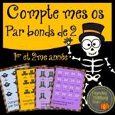 Compte par bonds de 2 pour l'halloween!  Math:  Skip Count