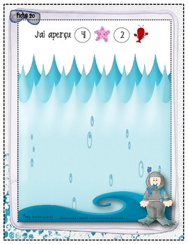 Compter-Animaux sous la mer / animal counting activities