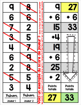 Compter Par Intervalle (Skip Counting Races) A Bilingual Math Fluency Game