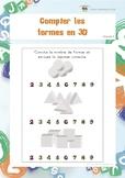 Compter les formes en 3D (fiches d'exercices en perception visuelle)