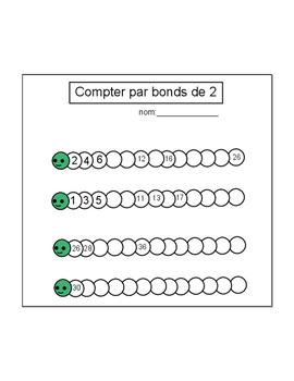 Compter par bonds de 2