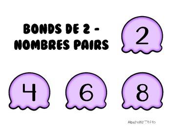Compter par bonds de 2, 5 et 10