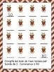 Compter par bonds de 2 pour Noel, livre en couleur, livrets pour 1er et 2me