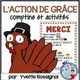 """Comptine pour dire """"Merci""""! (L'Action de Grâce, French printables, L'automne)"""