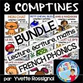 """Comptines """"Bundle"""" (8 comptines, activités,  mots fréquents, French ressources)"""