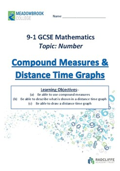 Compund Measures & Distance Time Graphs