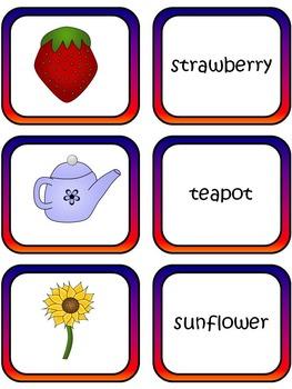 Compund Words Matching Pairs or Snap Game