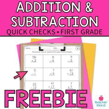 Computation Assessment Addition Subtraction {RTI Progress Monitoring} FREE