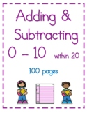 Addition & Subtraction Computation Practice 0-9, 78 pages