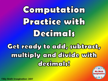 Computation Practice with Decimals