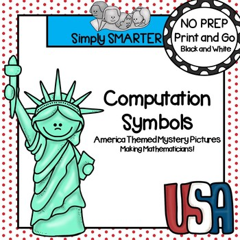 NO PREP America Computation Mystery Picture Activities