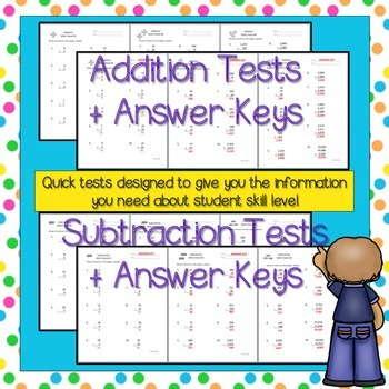 Math Computation Tests for Baseline Skills Assessment (Grades 3-5)