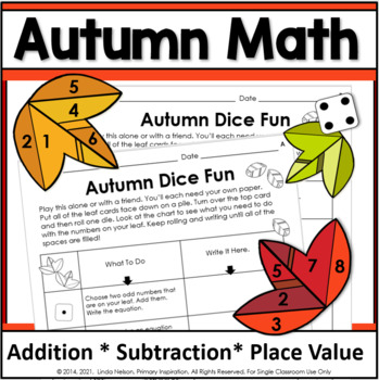 Computation and Place Value ~ Autumn Dice Fun