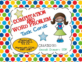 Computation and Word Problem Task Cards