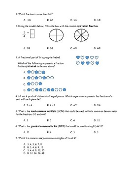 Computation of Fractions Study Guide