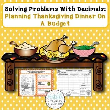 Problem Solving with Decimals: Thanksgiving Dinner