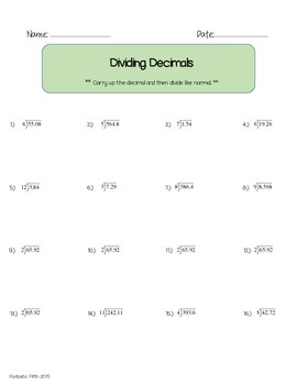 Computation with Decimals Bundle