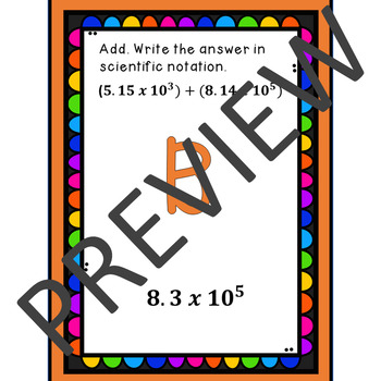 Computation with Numbers in Scientific Notation Scavenger Hunt