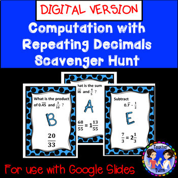 Computation with Repeating Decimals Scavenger Hunt Google Digital Activity