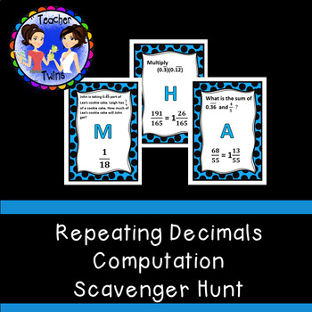 Computation with Repeating Decimals Scavenger Hunt