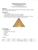 Computational Fluency Game Puzzle with Worksheet