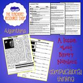 Computational Thinking Algorithm Binary Lesson Plan + Acti