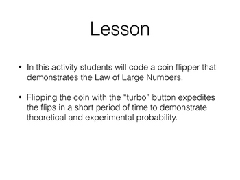 Computational Thinking: Coding a Coin Flipper With Scratch