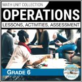 Computations, Fractions, Decimals, Percents - complete math unit grade 6 ✷ HUGE
