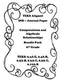Computations and Algebraic Relationships INB Bundle Pack - 6th Grade TEKS