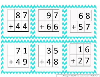 Compute With Speed ( double digit addition with regrouping)