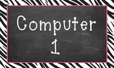 Computer 1 background/clipart - Zebra border