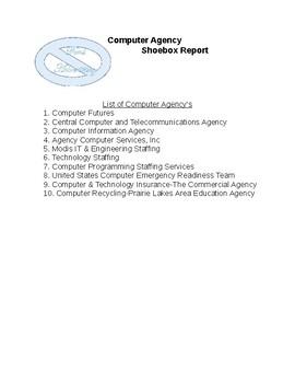 Computer Agency Shoebox Report