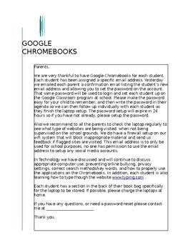 Computer Agreement (Chrome Books)