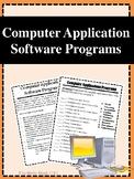 Computer Application Software Programs