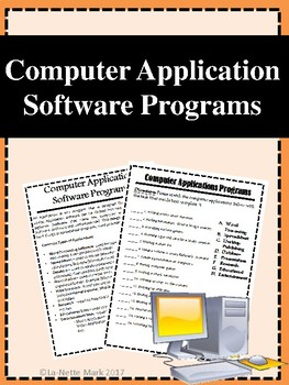 Computer Application Software Programs