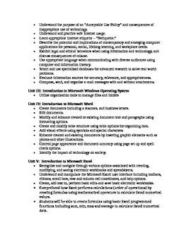 Computer Applications Course Syllabus