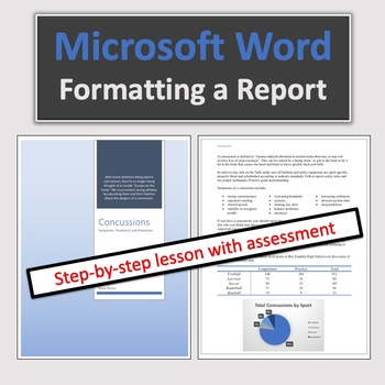 Computer Applications: Formatting A Report in Microsoft Word
