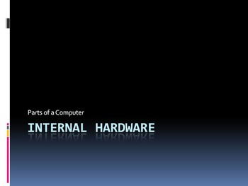 Computer Internal Hardware Introduction PowerPoint, Notes & Activity