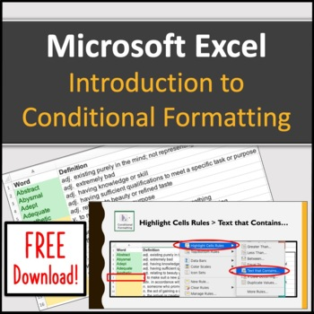 Computer Applications: Microsoft Excel Introduction to Conditional Formatting