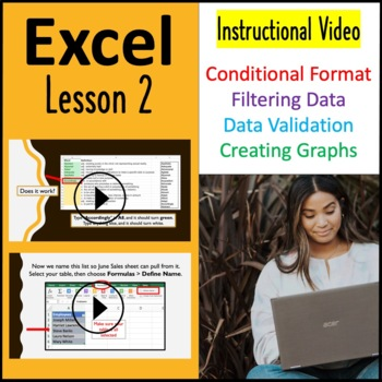 Computer Applications: Microsoft Excel Lesson on Conditional Formatting w/ Test