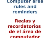 Computer Area Rules and Reminders Mini Posters
