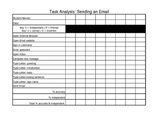 Computer Assessment - Task Analysis for Sending an Email