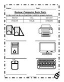 Computer Basic Parts Worksheet