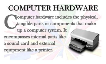 Computer Hardware And Software & Worksheets | Teachers Pay