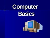 Computer Basics PowerPoint:  Parts of Computer, Hardware, Software, Internet
