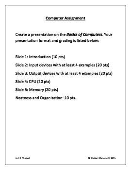 Computer Basics Project