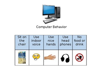 Computer Behavior Visual Support Special Education Autism