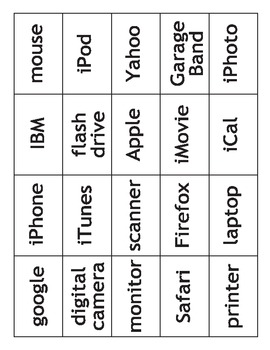Computer Bingo (iBingo) and cards