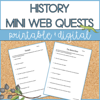Mini Web Quests - Events in History
