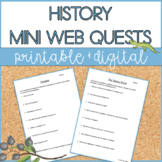 Mini Web Quests | Events in History | Distance Learning